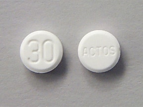 Actos 30 mg tablet