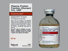 Plasmanate 5 % intravenous solution