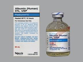 Plasbumin 5 % intravenous solution