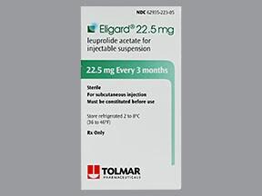 Eligard 22.5 mg (3 month) subcutaneous syringe