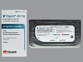 Eligard 45 mg (6 month) subcutaneous syringe