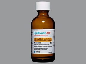 Quillivant XR 5 mg/mL (25 mg/5 mL) oral suspension,extend release 24hr