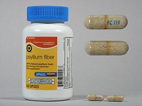 psyllium husk 0.52 gram capsule