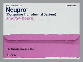 Neupro 3 mg/24 hour transdermal 24 hour patch