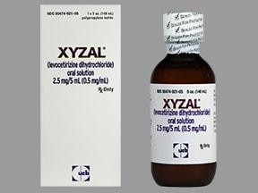 Xyzal 2.5 mg/5 mL oral solution