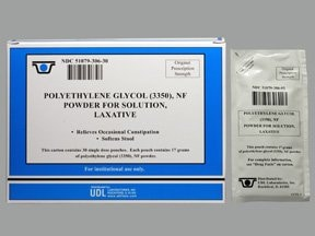 polyethylene glycol 3350 17 gram oral powder packet