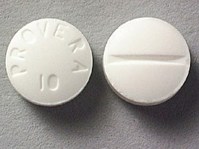 Provera 10 mg tablet