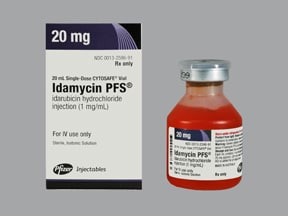 Idamycin PFS 1 mg/mL intravenous solution