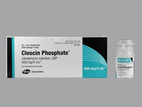 Cleocin 600 mg/4 mL intravenous solution