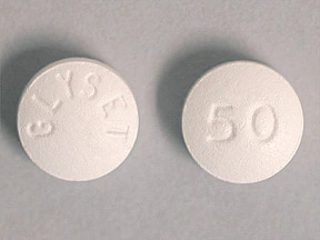 Glyset 50 mg tablet