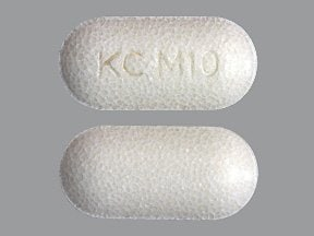 potassium chloride ER 10 mEq tablet,extended release(part/cryst)