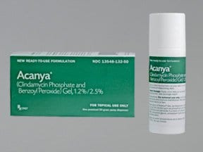 Acanya 1.2 %-2.5 % topical gel with pump