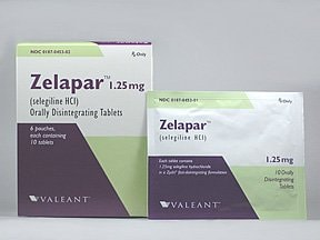 Zelapar 1.25 mg disintegrating tablet
