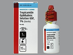 tropicamide 1 % eye drops