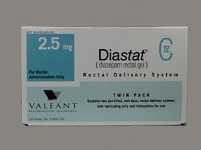 Diastat 2.5 mg rectal kit