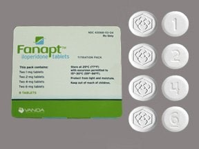 Fanapt 1mg(2)-2 mg(2)-4mg(2)-6 mg(2) tablets in a dose pack