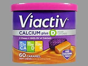 Viactiv 500 mg-500 unit-40 mcg chewable tablet