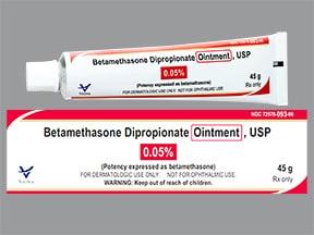 betamethasone dipropionate 0.05 % topical ointment