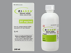 Ziagen 20 mg/mL oral solution