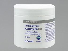 erythromycin with ethanol 2 % topical swab