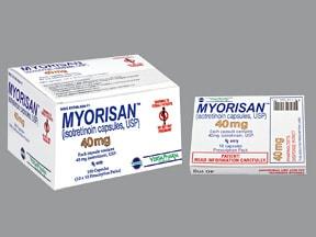 Myorisan 40 mg capsule