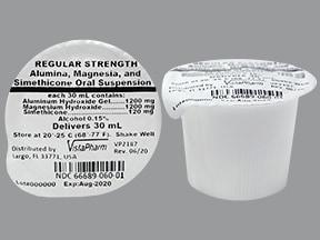 aluminum-mag hydroxide-simethicone 200 mg-200 mg-20 mg/5 mL oral susp