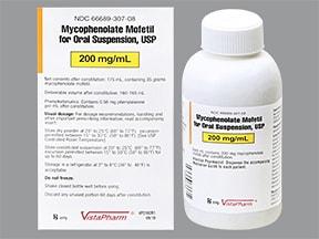 mycophenolate mofetil 200 mg/mL oral suspension