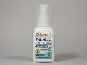 Wal-Dryl (diphenhydramine) 2 % topical spray