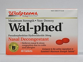 Wal-phed 30 mg tablet