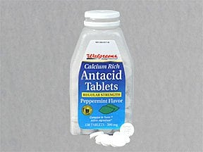 Antacid (calcium carbonate) 200 mg calcium (500 mg) chewable tablet