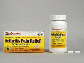 Arthritis Pain Relief (acetaminophen) ER 650 mg tablet,extend release