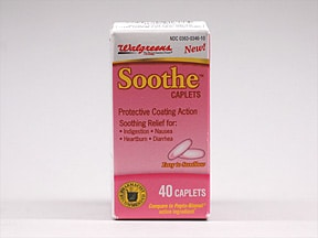 Soothe (bismuth subsalicylate) 262 mg tablet