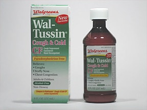 Wal-Tussin Cough and Cold CF 5 mg-10 mg-100 mg/5 mL oral liquid