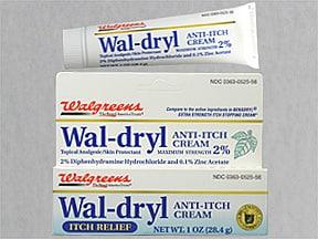 Wal-Dryl (acetato de difenidramina-Zn) 2% -0,1% de creme tópico
