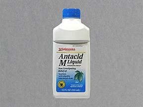 Antacid M 200 mg-200 mg-20 mg/5 mL oral suspension