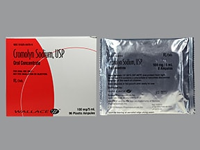 cromolyn 100 mg/5 mL oral concentrate