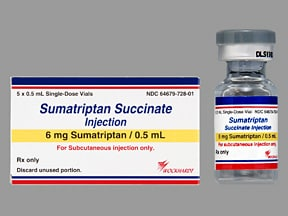 sumatriptan 6 mg/0.5 mL subcutaneous solution