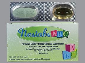 Nestabs ABC 32 mg iron-1 mg-120 mg-180 mg oral pack