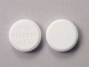 Gelusil Antacid and Anti-Gas 200 mg-200 mg-25 mg chewable tablet