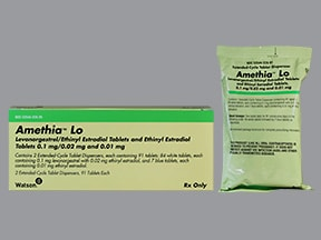 Amethia Lo 0.10 mg-20 mcg (84)/10 mcg(7) tablets,3 month dose pack