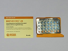 Brevicon (28) 0.5 mg-35 mcg tablet