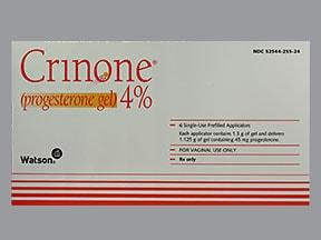 Crinone 4 % vaginal gel