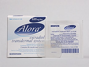 Alora 0.05 mg/24 hr transdermal patch