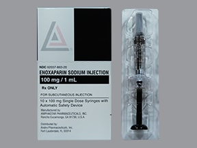 enoxaparin 100 mg/mL subcutaneous syringe