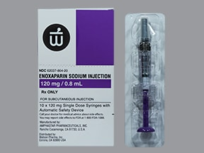enoxaparin 120 mg/0.8 mL subcutaneous syringe