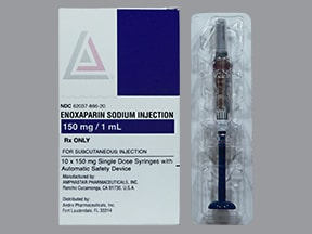 enoxaparin 150 mg/mL subcutaneous syringe