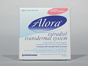 Alora 0.025 mg/24 hr transdermal patch