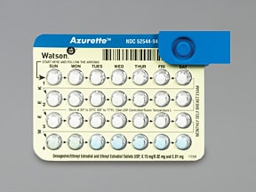 Azurette (28) 0.15 mg-0.02 mg (21)/0.01 mg (5) tablet