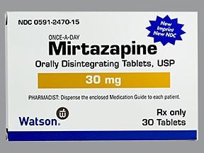mirtazapine 30 mg disintegrating tablet
