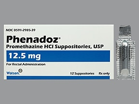 Phenadoz 12.5 mg rectal suppository